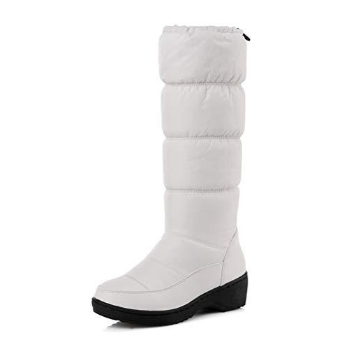 Frauen Kniehohe Schneeschuhe Dicker Plüsch Gefüttert Weiblichen Ankle Bootie Warm Down Damen Winter Wasserdichte Freizeitschuhe (Schuhe Setter Irish)