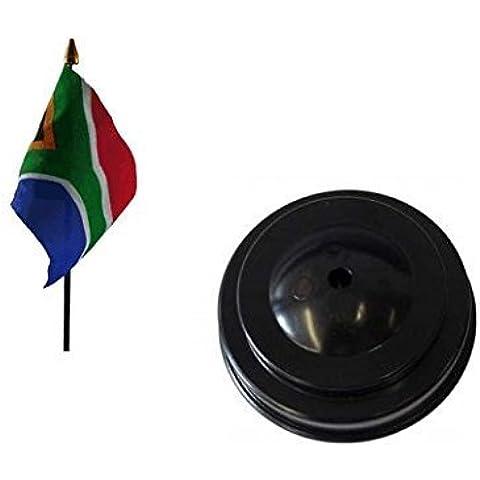 Sudáfrica de mesa bandera y base