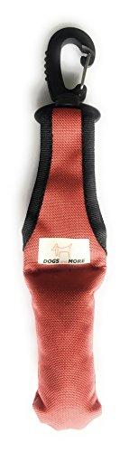 DOGS and MORE - Bringsel mit leichtem Wirbelkarabiner in Rot (Verweiser-Dummy)