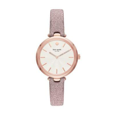 Kate Spade New York Pink Glitter Leather Strap Women's Watch KSW1474