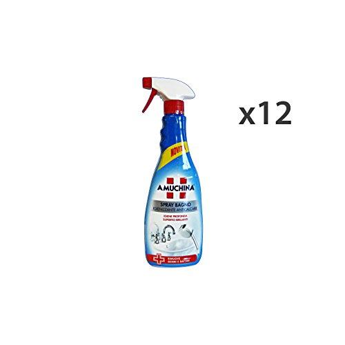 Set 12 AMUCHINA Anticalcare Bagno TRIGGER 750 Ml. Detergenti casa