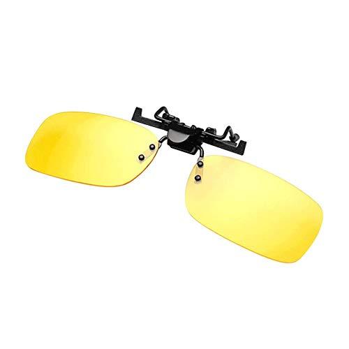 Wovemster Sonnenbrillenbrille Clip, Blendfreier UV-Schutz für Tag und Nacht, Geeignet für Autofahren im Freien(Kleiner,nachtgelber Film)