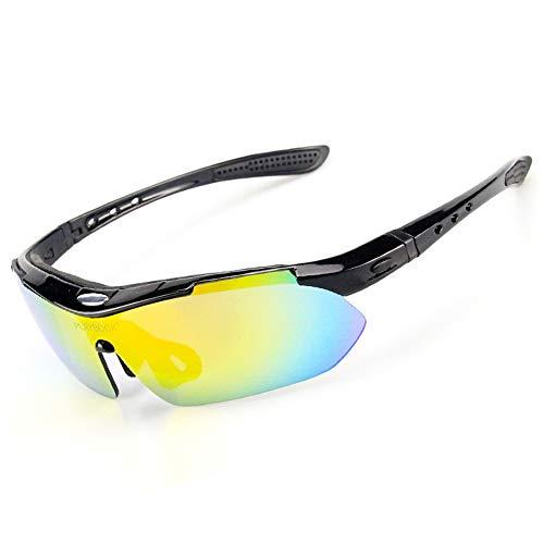 EDSWXT Schutzbrillen Snowboard Snowboard Skate Brille, Klar, Schwarz