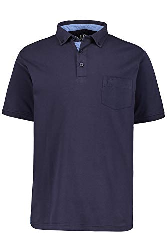 JP 1880 Herren große Größen bis 7XL, Poloshirt, Shirt, Buttondown-Kragen & Brusttasche, Seitenschlitze, Regular Fit, Baumwolle Navy 7XL 703657 70-7XL