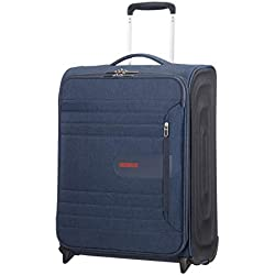 American Tourister Sonicsurfer - Upright 55/20 Equipaje de Mano, 55 cm, 43 Liters, Azul (Midnight Navy)