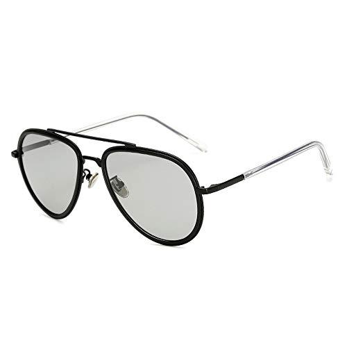 Metall polarisierte vielseitige Sonnenbrille Brille gut aussehende Männer Mode Sonnenbrillen Brille (Color : 01 Schwarz, Size : Kostenlos)