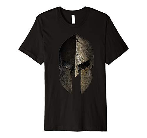 Vintage Spartan Helm T-Shirt–Warrior T-Shirt