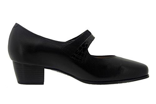 Chaussure femme confort en cuir Piesanto 7103 babies comfortables amples Noir