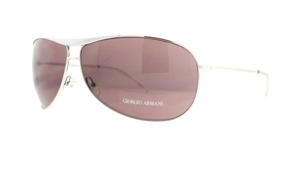 49b3061c676 Giorgio Armani GA 134 S YB74S Silver Unisex Aviator Sunglasses   Amazon.co.uk  Clothing