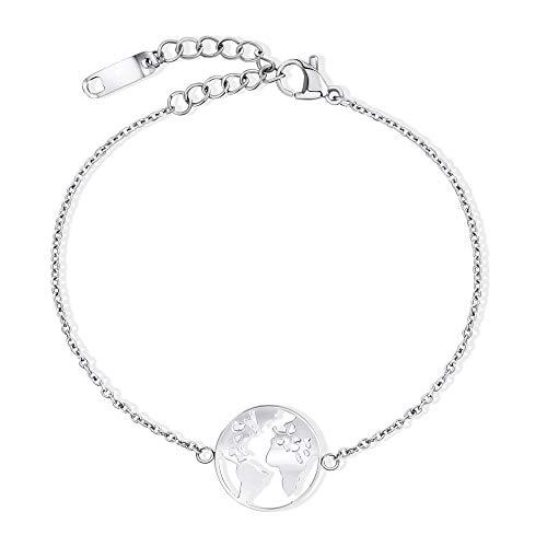 LENIRA Weltkugel Armband (Silber)