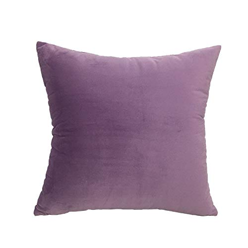 Samtkissen einfarbig 45x45cm Sofa Autokissen lila violett 45x45cm