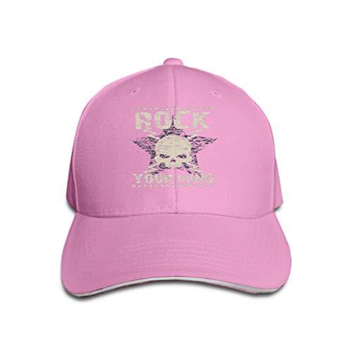 Star Kostüm Rock Tiger - Baseball Caps Trucker Caps Bones Hip Hop Hats for Men Women Rock Typography Star Skull Emblem Fashion Music Design