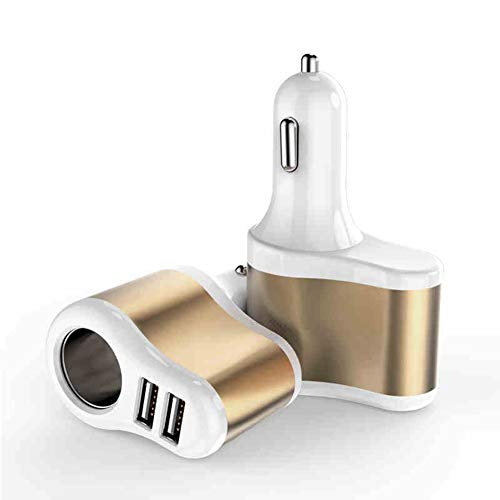 Doppel in Einem Dual-USB-Auto-Ladegerät Multifunktions-USB-Auto Ladekopf Zigarettenanzünder schnell Auto-Ladegerät Quick Adapt-led