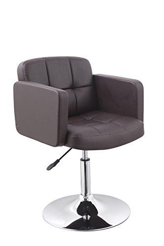 Clubsessel Sessel Kunstleder Braun Lounge Sessel höhenverstellbar drehbar Duhome 0494
