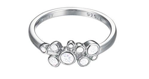 Esprit Damen-Ring Symphony 925 Silber rhodiniert Zirkonia weiß Rundschliff