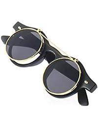 Lovelysunshiny Classic Steampunk Goth Lunettes De Protection Lunettes De  Soleil Rondes Lunettes De Soleil Rondes 7c770aae4097