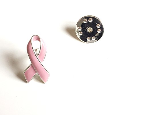 Pin's ruban rose. Lutte contre le cancer