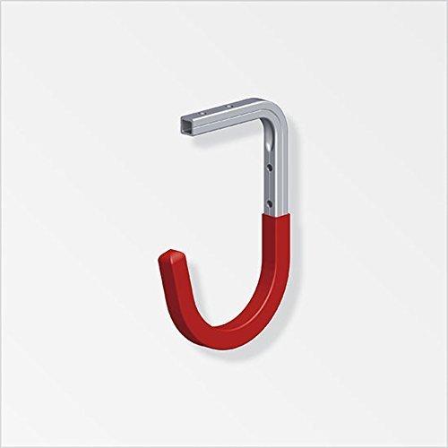 GedoTec® Wandhaken Deckenhaken Allzweckhaken Garderobenhaken Gerätehalter Aluminium (8. - 110 x 165 x 90 mm)