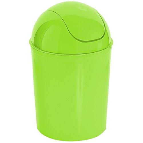 Liter 7L klein rund Farbe Kunststoff Recycle Mülleimer Papier Mülleimer Swing (Lime Grün, 1) (Recycle-papierkorb)