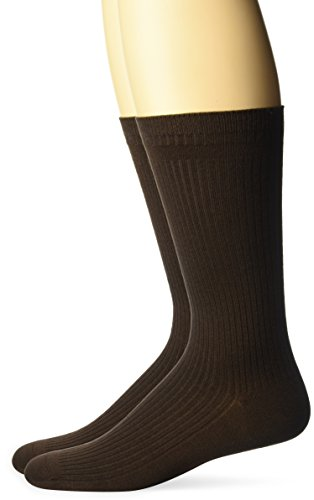 Dr. Scholl's Men's Dsm4500-1 2 Pack Everyday Non-binding Flat Knit Crew Socks