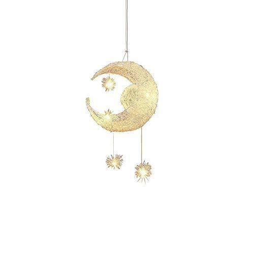 Fünf-licht-leuchter-glühlampen (FDA3H Moderne mond led pendelleuchten kinderzimmer dekoration kronleuchter aluminium kind schlafzimmer personalisierte moon star hängen deckenleuchte mit 5-lichter g4 deckenleuchte)