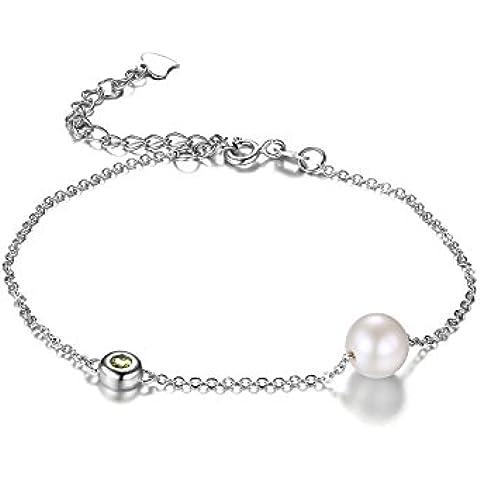 JewelryPalace Rotonda 8.5mm D'acqua Dolce Coltivate Perla