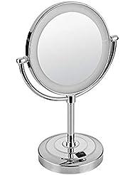 Mode Led Licht Make-up Spiegel Für Frauen Machen Up Tisch Lampe 360 Rotation Helligkeit Einstellbar Schönheit Eitelkeit Kosmetik Spiegel Schminkspiegel Spiegel