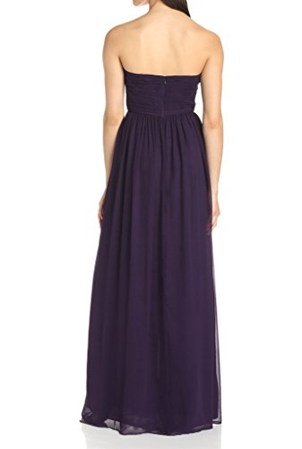 Eudolah Maxi robe de soiree/cocktail bustier avec bandeau plisse demoiselle d'honneur Femme Bleu Fonce