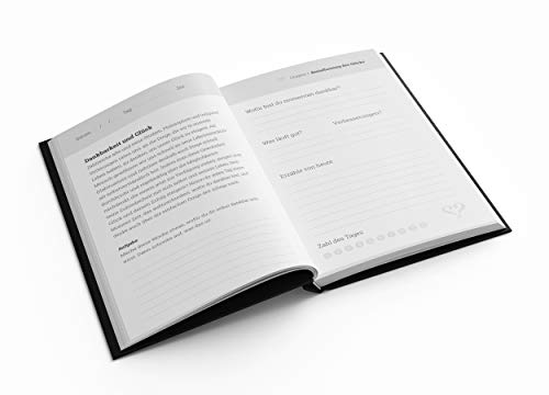 Vertellis Chapters - Tagebuch, Reisetagebuch & Planer für Achtsamkeit auf 192 Seiten. Dein Notizbuch A5 mit Leder - Einband