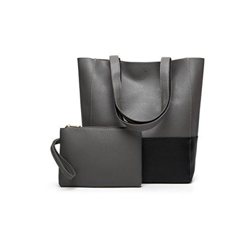 La Signora Borsa Tracolla Messenger Bag Tote Blackandgray