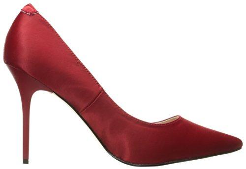 Pleaser CLASSIQUE-20, Chaussures à Talons - Avant du Pieds Couvert Femmes Red Satin