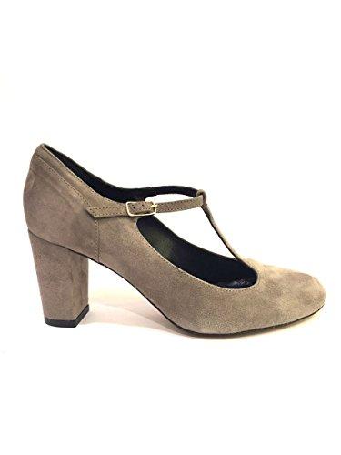 Decollete AZ/51830/534 in pelle tango baby laccio alla caviglia 40, tortora MainApps