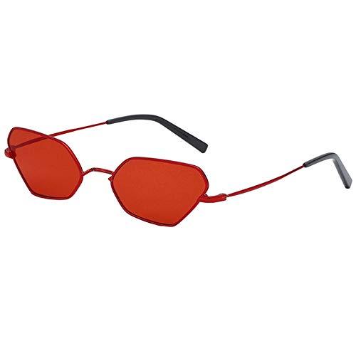 JVSISM Katze Augen Sonnenbrillen Metall Rahmen Mode Sonnenbrillen Brand Design Brillen Brillen Rot