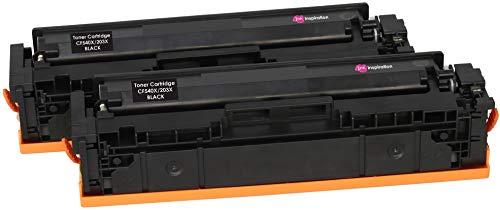 2 INK INSPIRATION® Schwarz Premium Toner kompatibel für HP 203X CF540X Color Laserjet Pro M254dw M254nw MFP M280nw M281fdn M281fdw | 3.200 Seiten (Hp Toner-kassette Mit Drucker)