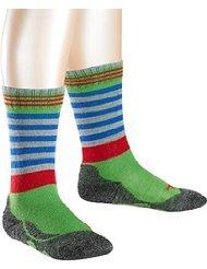FALKE Frog Kinder Socken rugby green (7741) 19-22 mit weicher Plüschsohle