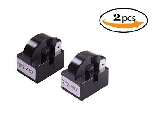 UPZHIJI QP2-4R7 4.7 Ohm 1 Pin Kühlschrank PTC Starter Relais Kunststoff Gehäuse Farbe Schwarz 2 Stk (Kühlschrank-gehäuse)