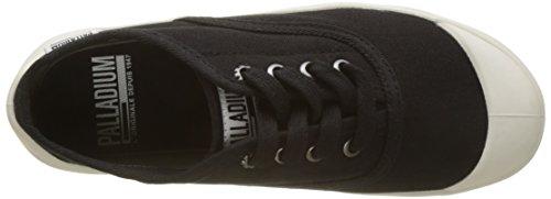 Palladium Damen Sub Low Canvas Sneaker Schwarz (Black/marshmallow 585)