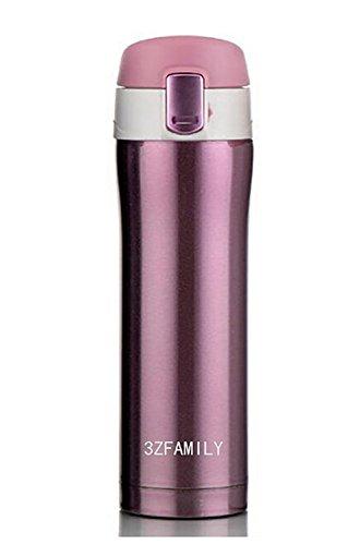 3ZFamily Isolierkannen aus Edelstahl, isoliert, 455 ml violett / pink