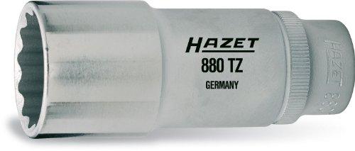 Hazet 880TZ-19 Douille carré creux 10 mm/profil traction à 12 pans extérieurs Taille 19 longueur 66 mm