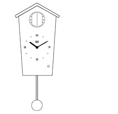 7839669df KOOKOO BirdHouse blanco reloj de pared con 12 aves sonidos grabación natural .