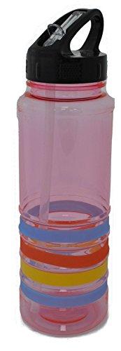 Glanz 700ml Flip Stroh Tritan Pink Wasser Flasche Sport Gesundheit Gym Radfahren BPA-frei (Sport Stroh Flasche)