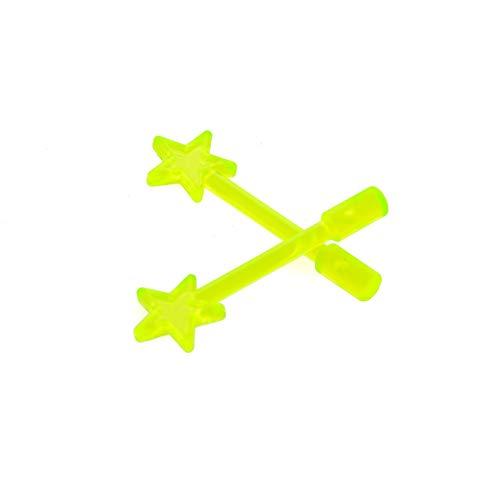 Bausteine gebraucht 2 x Lego System Zauberstab transparent neon grün Figuren Zubehör Zauberer Fee Weihnachtsstern Baumspitze 71040 40058 4841 10229 6124 (Lego 10229)