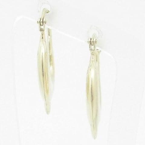 Silvergold Damen 10K gold und 925italienisches Sterling Silber Ohrringe Fancy Kugel Hoop Huggie Ohrstecker Fashion baumeln Swag he26