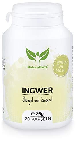 NaturaForte Ingwer-Kapseln 120 Stück, 2 Monate Vorrat...