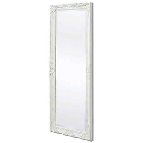 vidaXL Espejo de Pared Estilo Barroco 140x50 cm Blanco Espejo de Armario Retro
