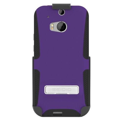 Seidio BD2-HK3HTM8K-PR Dilex Hülle mit metallischen Kickstand und Holster Combo für HTC One (M8) amethyst - Seidio Holster-design