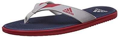 adidas Men's Orrin M Blue, Silver and Red Flip-Flops and House Slippers - 7 UK