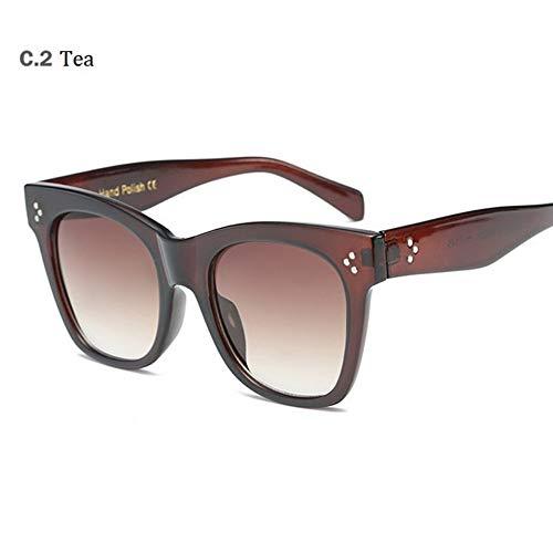 MoHHoM Sonnenbrille Hot Cat Eye Berühmtheit Kim Kardashian Sonnenbrillen Sonnenbrille Frauen Lady Übergroße Rahmen Eyewear Kaffee