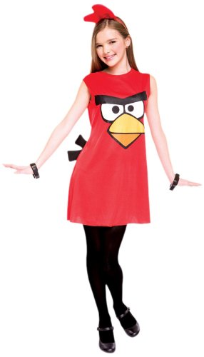 Bird Kinder Angry Kostüm Birds Red - Papier Magie PM6748317 Gruppe-L M-dchen Angry Birds Red Bird Kost-m LARGE