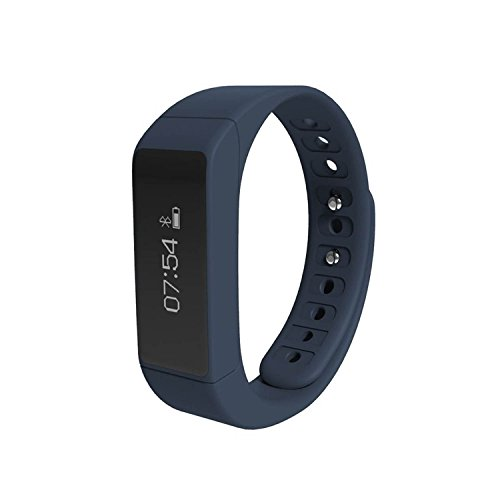COOSA I5 Plus Intelligente Bracciale Sportivo Accessorio Fitness per Attività Sportiva, Bluetooth 4,0 Smart per Attività di Monitoraggio, Indossabile, con Contapassi, Contacalorie e Sveglia, OLED Touch Screen, per Dispositivi iOS e Android, Migliora la Forma Fisica (2Blu, I5 Plus)